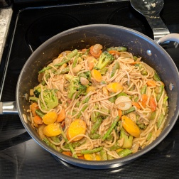 Stir-fry with Brown Rice Noodles